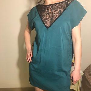 Bisou Bisou Michelle BohBot Green tunic Dressy